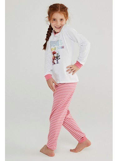 Penti Kız Çocuk Çok Renkli Trolls Glıtter 2'li Pijama Takım PNVPVKY020SK Renkli